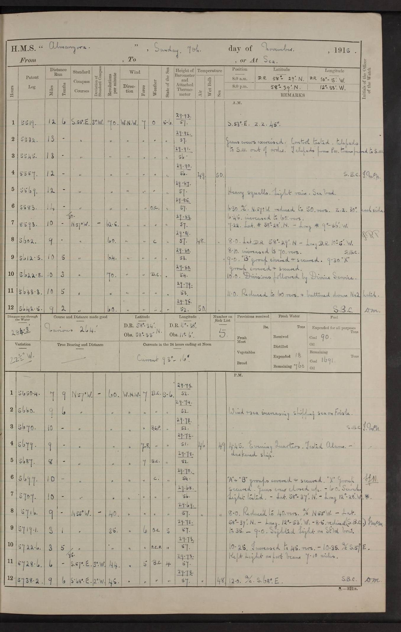 HMS Almanzora, armed merchant cruiser - British warships of